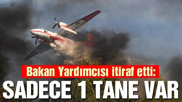 Bakan Yardımcısından itiraf: Tek yangın uçağımız var