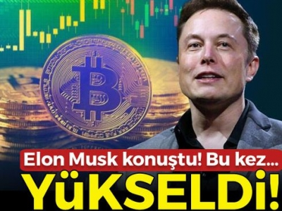 Bitcoin Elon Musk'ın tweeti sonrası yükseldi! Bitcoin kaç dolar oldu?