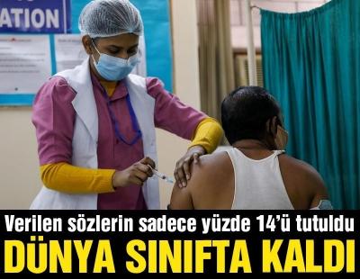 Dünya aşı bağışında sınıfta kaldı: 1.8 milyar dozdan yalnızca yüzde 14'ü ulaştı